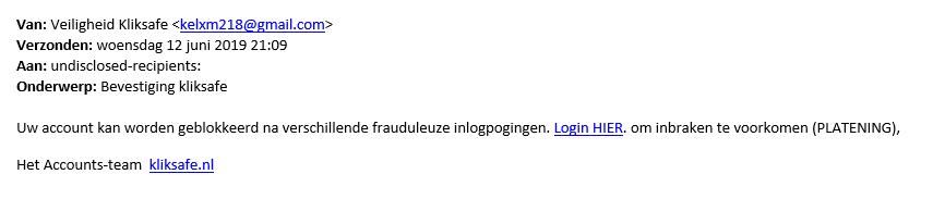 veiligheid kliksafe phishing