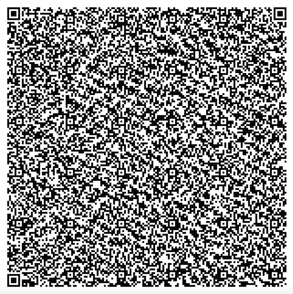 QR code tekst blog