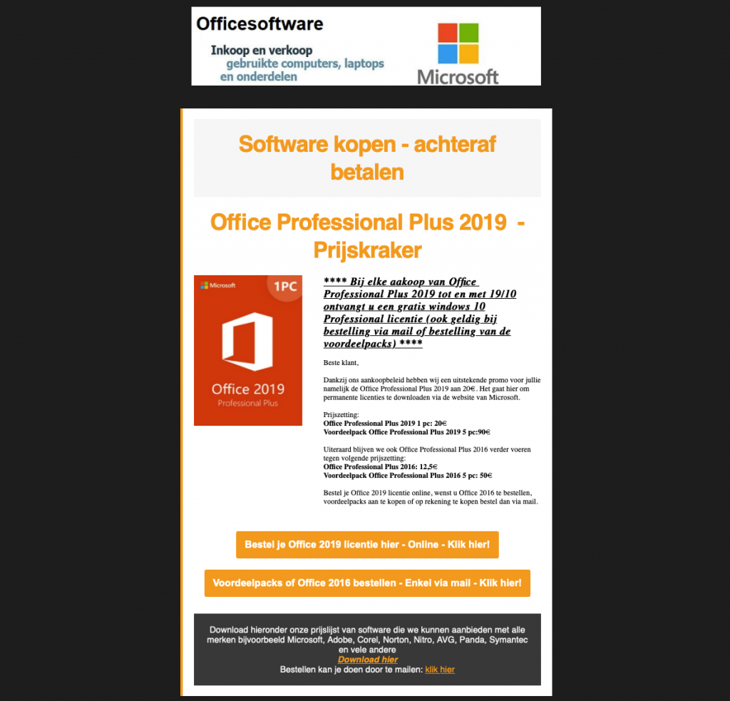 office software be