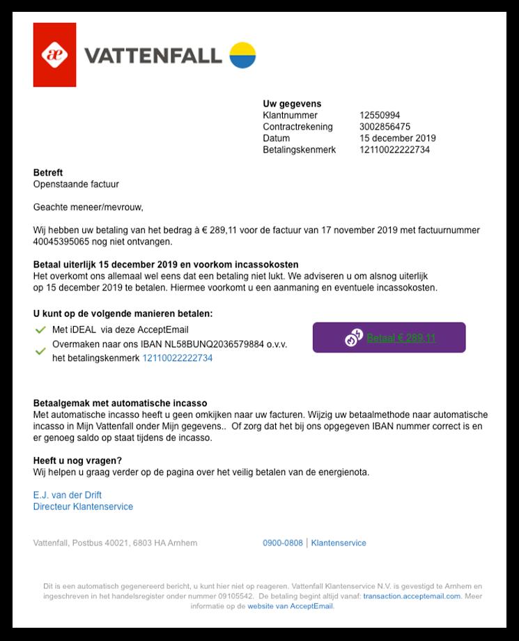 Vattenfall phishing