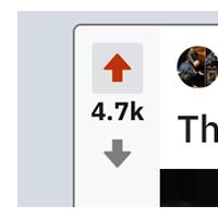 upvote downvote reddit