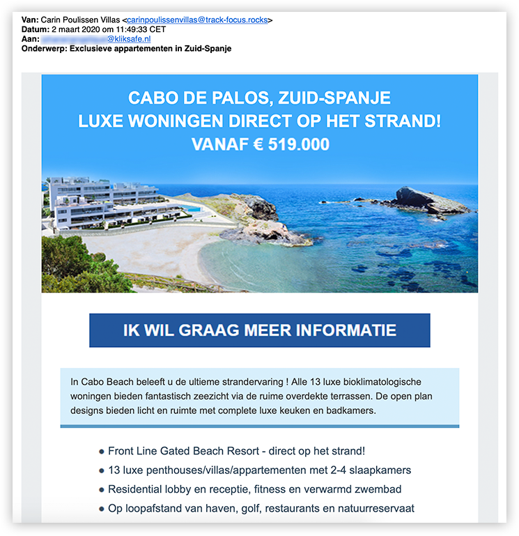 Cabo De Palos phishing