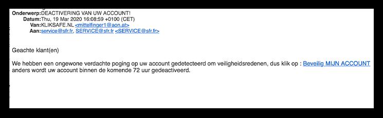 deactivering van uw account