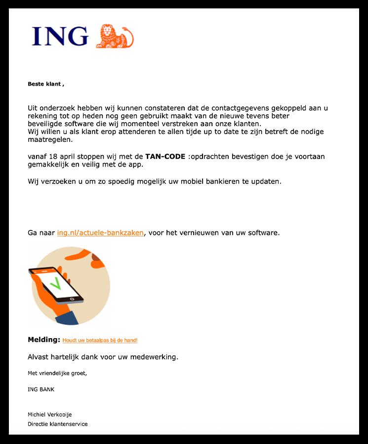 ing phishing mail