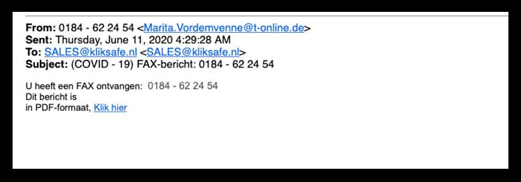 fax phishing