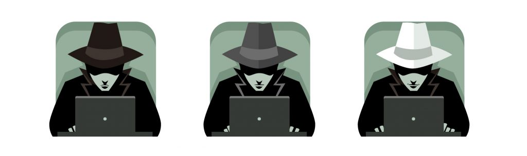 White Grey Black Hat Hacker