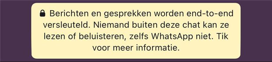 Berichten En Gesprekken Worden End To End Versleuteld